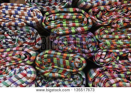 Close up of Thai style handmade fabric.