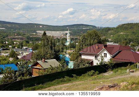 Holy Trinity Cathedral. View from the foot of Mount Fox. Nizhny Tagil. Sverdlovsk region. Russia.