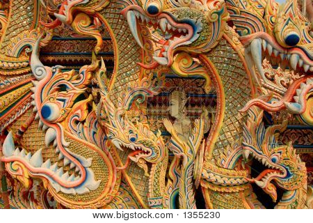 Asian Dragon Background