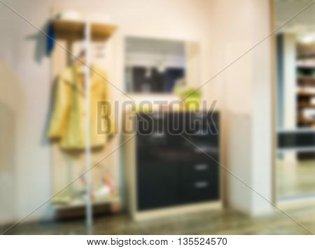 Blur in modern apartment interior as background