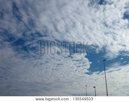 Dramatic Cloudshape On A Blue Sky