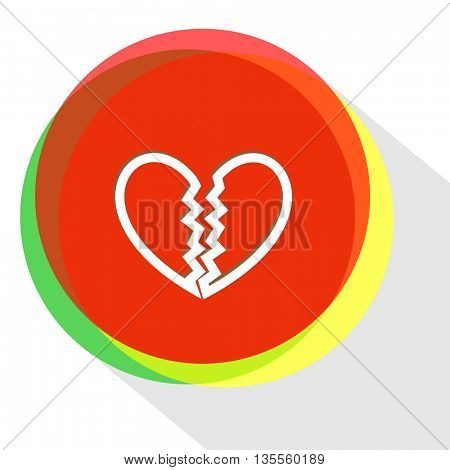unrequited love. Internet template. Vector icon.