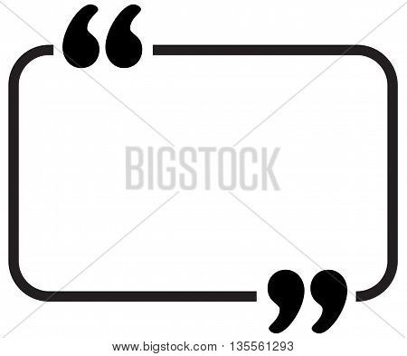 quote vector border symbol scar discussion talking speech bubble