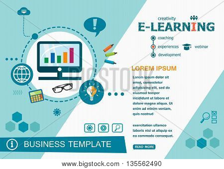 Online E-learning Design Concepts Of Words Learning And Training.