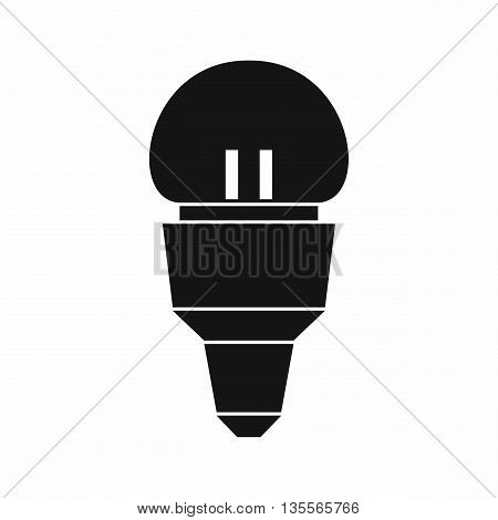 Reflector bulb icon in simple style isolated on white background
