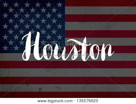 Houston written with hand-written letters