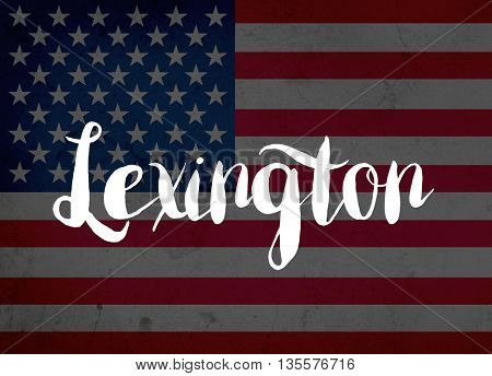Lexington written with hand-written letters