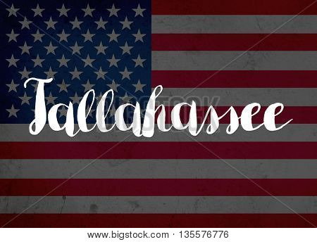 Tallahassee written with hand-written letters