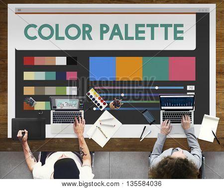 Color Palette Creative Concept