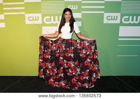 NEW YORK, NY - MAY 14: Actress Gina Rodriguez attends the 2015 CW Network Upfront Presentation at the London Hotel on May 14, 2015 in New York City.