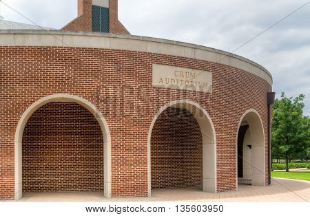 Crum Auditorium On The Campus Of Southern Methodist University