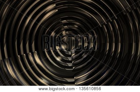 Metallic Spiral Background Glossy Illustration 3D Render