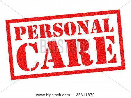 PERSONAL CARE red Rubber Stamp over a white background.