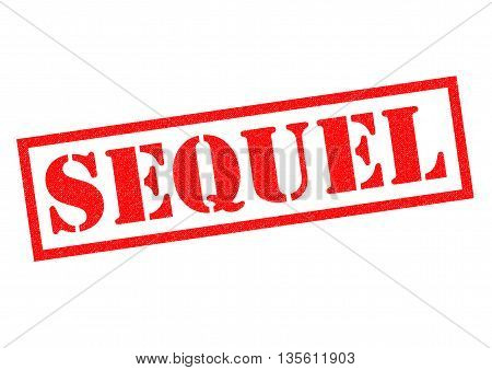SEQUEL red Rubber Stamp over a white background.