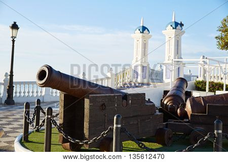 Benidorm old Canon at Mirador del Castillo Mediterranean lookout Alicante Spain
