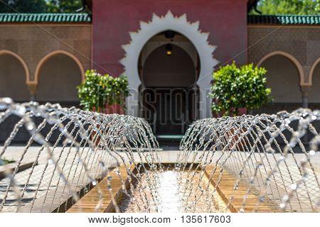 Oriental Garden - Court Of Morrocan House