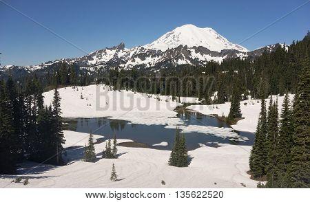 Tipsoo Lake Naches Peak Loop Mt Rainier Cascade Mountain Range
