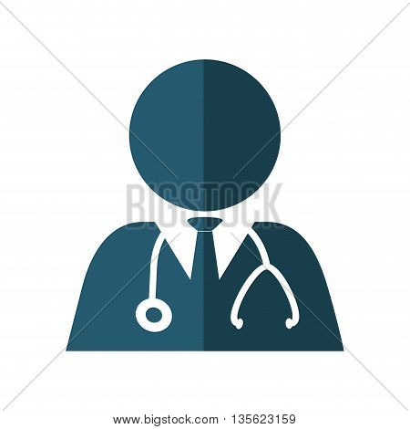 Medical cand Heatlh care concept represented by pictogram doctor icon over flat and isolated background
