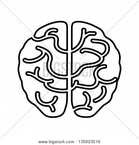 Medical cand Heatlh care concept represented by brain icon over flat and isolated background