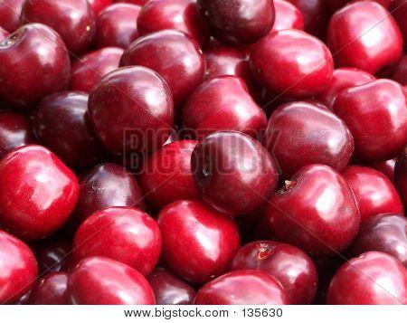 Closeup Of Cherries
