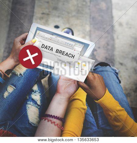 Data Breach Security Confidential Cybercrime Concept