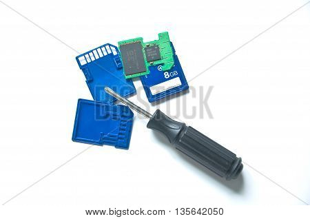 Screw Driver And Sd Card