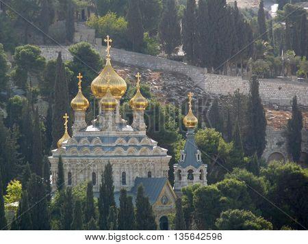 Church of Mary Magdalene at Jerusalem, Israel