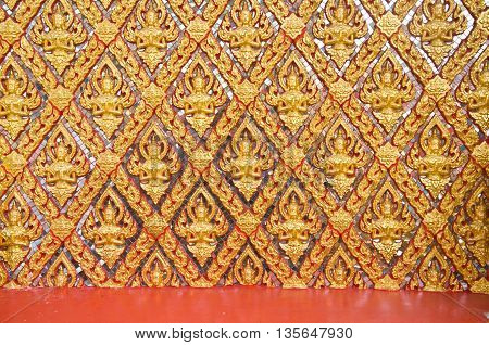 Images artistic of traditional line thai background-wall in temple