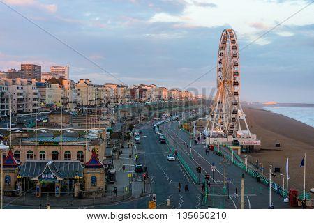 BRIGHTON, UK - CIRCA APRIL 2013: The Brighton Wheel on the seafront. The Brighton Wheel definitely closed Sunday 8 May 2016.