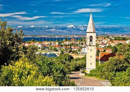 Sutomscica village and Zadar channel view Island of Ugljan Croatia