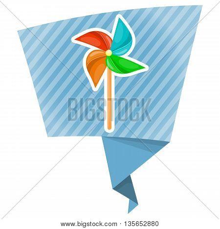 Vector Illustration. Paper Windmill Pinwheel