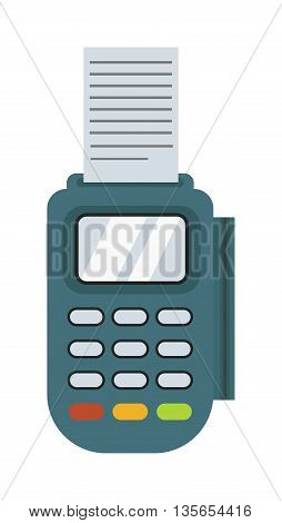 Financial safety concept payment acceptance isolated on white background. Plastic card payment acceptance bank transaction customer. Purchase cash payment acceptance technology buy concept terminal.