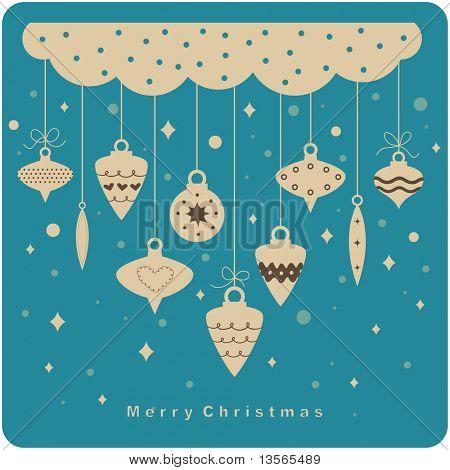 vector Christmas ball(hanging) background