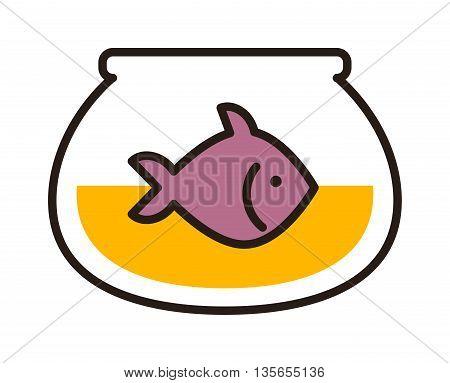 Gold fish in aquarium on white background. Tropical ocean marine fish in aquarium. Aquatic wildlife blue isolated fish in aquarium ocean marine saltwater fishbowl motion. Beautiful pet coral tank.