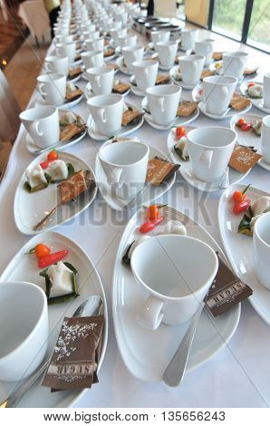 Coffee break and Thai dessert at hotel