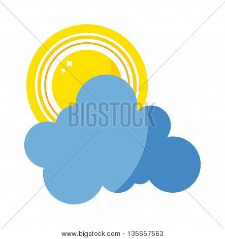 Vector sun and cloud icon isolated on background. Sun weather isolated summer icon design. Vector yellow sun and cloud sky symbol. Vector sun sun element. Sun weather icon vector sun logo sign symbol