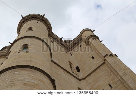 PARIS, FRANCE - MAY 15, 2015: This is donjon of the castle of Vincennes.