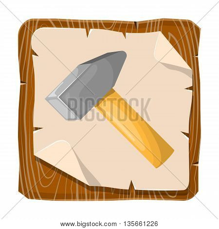 Colorful Icon Of Hammer