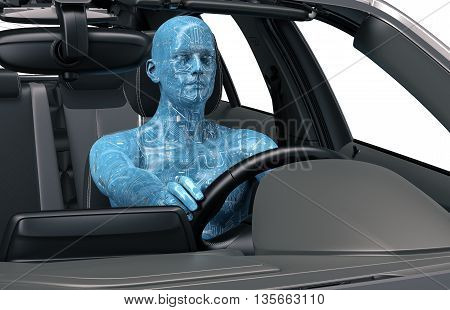 Concept Of Self-driving Car