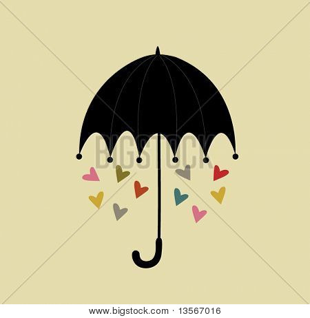 umbrella with love design