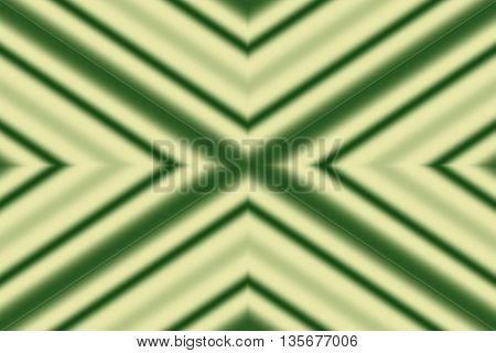 Illustration of a dark green and vanilla colored x-pattern