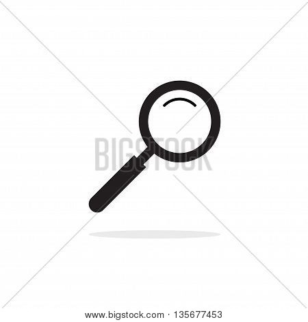 Magnifying glass vector icon, magnifier zoom, magnify icon, concept of search icon, research logo idea, exploring emblem, investigation symbol, outline linear simple flat pictogram isolated on white