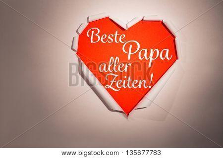 Word beste papa aller Zeiten against white background with vignette