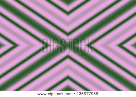 Illustration of a dark green and pink x-pattern