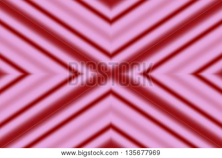 Illustration of a pink and red x-pattern