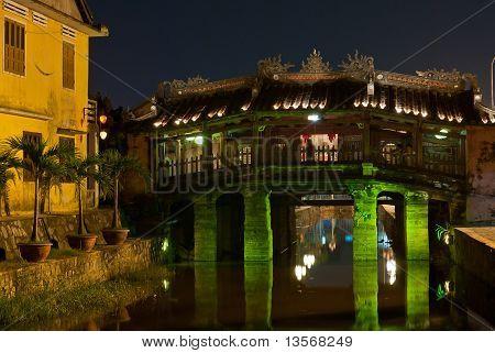 Japanese Covered Bridge By Night, Hoi An, Vietnam