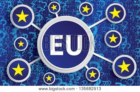 Eu Stars And Symbols -  Brexit