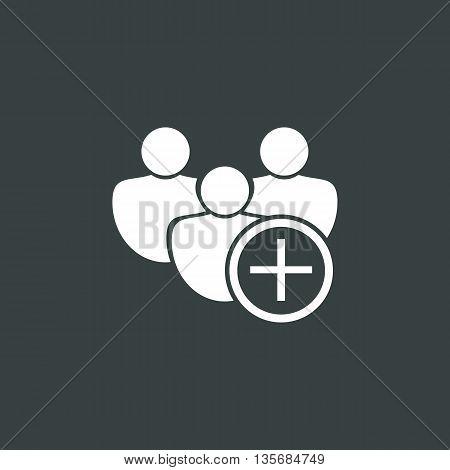 User Add Icon In Vector Format. Premium Quality User Add Symbol. Web Graphic User Add Sign On Dark B