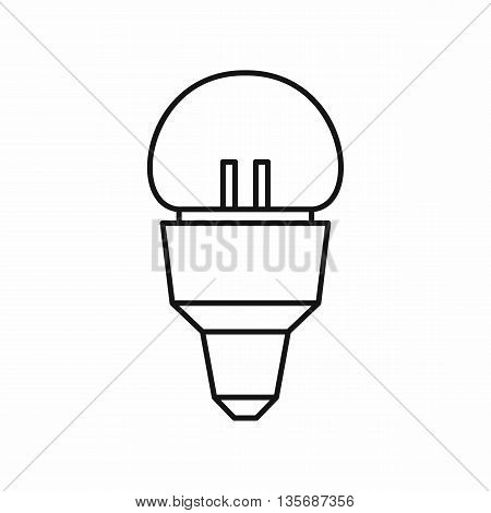 Reflector bulb icon in outline style isolated on white background