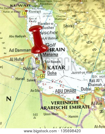 Map with pin set on Kata, Saudi Arabia.